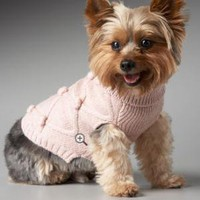 Lattice Bobbles Dog Sweater