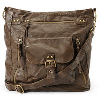 T-Shirt & Jeans Large Brown Crossbody Purse at Zumiez : PDP