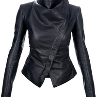 Gareth Pugh Asymmetric Leather Jacket