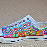 "Custom Converse, Doodles with ""Strings"""
