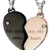 Heart Shape Couples Necklaces for Couples
