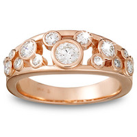 Disney Diamond Icon Mickey Mouse Ring for Women -- 14 Karat Rose Gold | Disney Store