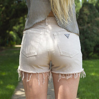 Vintage Tan Guess High Waisted Shorts