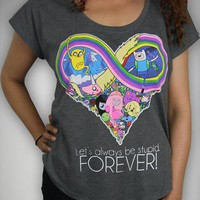 Adventure Time 'Let's Always Be Stupid Forever' Junior Fitted Tee