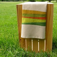 Modern Kitchen Towel Gold and Green by TwiggyandOpal on Etsy