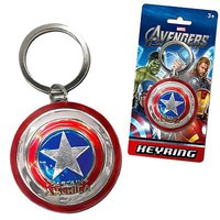 Stupid.com: Captain America Pewter Shield Keychain