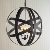 Metal Strap Globe Lantern - Large - Shades of Light