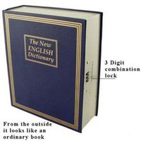 Combination Lock Fake Dictionary Safe Safety In College Dorm Security Products College Safety
