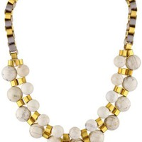 "Lee Angel ""Marti"" White Howlite Box Chain Necklace"