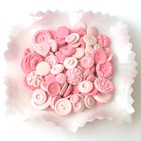 Tickled Peppermint Pink Candy Buttons 200 by andiespecialtysweets