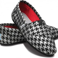 Silver Houndstooth Women&#x27;s Classics | TOMS.com