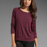 Current/Elliott The Letterman Sweatshirt in Ruby Heather from REVOLVEclothing.com