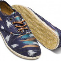 TOMS+ Navy Ikat Stripe Men's Cordones