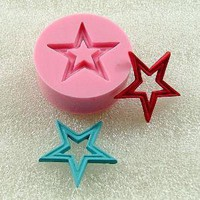 Vintage Open Star Flexible Mini Mold/Mould 21mm for by MoldMuse