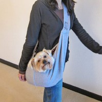 Alfie Couture Designer Pet Accessory - Chico Reversible Pet Sling Carrier - Color: Grey:Amazon:Pet Supplies