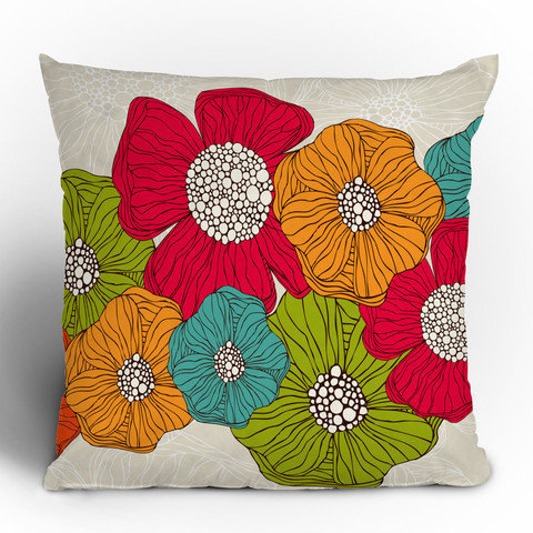 Valentina Ramos Flowers Throw Pillow