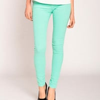 Klique B Colored Skinny Jeans in Cool Jade