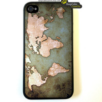 Iphone 4 Case Vintage World Map iPhone 4 Case by KeepCalmCaseOn