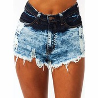Hey Ombre Cut-Off Denim Shorts - GoJane.com
