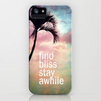Find bliss stay awhile iPhone & iPod Case by Sylvia Cook Photography