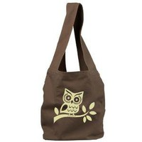 Owl Sling Tote Bag by Deadworry on Etsy