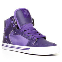 DJPremium.com - Women - Shop by Department - Shoes - Vaider Purple Leather/Lavender Nylon Sneakers