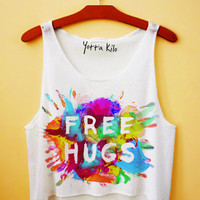 Free Hugs Crop Tank Top