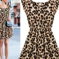 Casual Leopard Dress