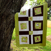 Baby Blanket Farm Animals by TwiggyandOpal on Etsy