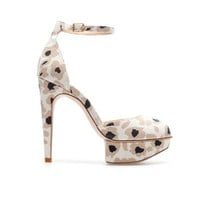 PRINTED PLATFORM SANDALS  WITH ANKLE STRAP - Shoes - Woman | ZARA United States