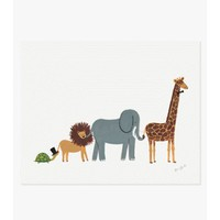 Animal Parade Print | Folly Home | Design-led Gifts, Home wares, Vintage Finds