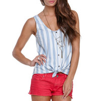 LA Hearts Denim Button Front Tank at PacSun.com