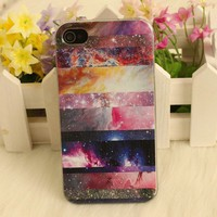 Galaxy Painted Colorful Star Hard For Iphone 4/4s