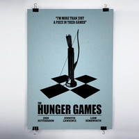 Hunger Games Unofficial Movie Poster 8x10 Print by inkofme