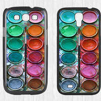 Water color paint set Samsung Galaxy S3 S4 Case,watercolor paint box Galaxy S3 S4 Hard Case,painting box cover skin Case for   Galaxy S3 S4