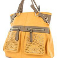 Gold Accented Large Tribal Handbag â?? Modeets
