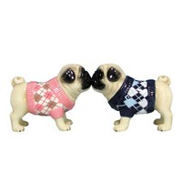 Westland Giftware Pug-nacious Magnetic Argyle Sweaters Pugs Salt and Pepper Shaker Set, 2-1/2-Inch