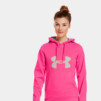 Women's Armour Fleece Storm Big Logo Hoodie | 1239149 | Under Armour US