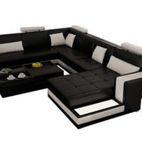 Avatar Modern Leather Sectional by Scene Furniture - Opulentitems.com