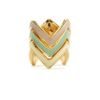 STACKED ZIGZAG RING SET