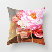 Coco Chanel Throw Pillow by Briana Berrie