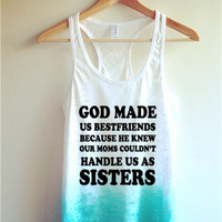 God made us bestfriends Tie Dye Tank Top