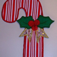 Large size Christmas candy cane applique iron on patch