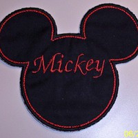 Mickey applique iron on personalize patch