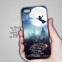 Peter Pan Quote - on Hard Cover For iPhone 4/4S iPhone 5 Case And Samsung Galaxy s3 i9300, Samsung Galaxy s4 i9500 Case