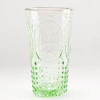 Green Fleur de Lys Highball Glass, Set of 4 | Drinkware| Kitchen & Dining | World Market