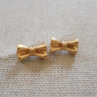 Bow Tie Earrings [3677] - $10.80 : Vintage Inspired Clothing & Affordable Summer Frocks, deloom | Modern. Vintage. Crafted.
