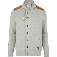 Grey quilted duffle sweat jacket - sweatshirts - hoodies / sweatshirts - men
