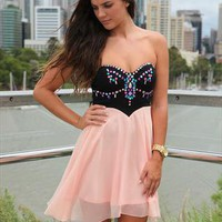 Peach jewel dress from xeniaeboutique