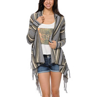 Rip Curl Driftwood Grey Hooded Cardigan Sweater at Zumiez : PDP